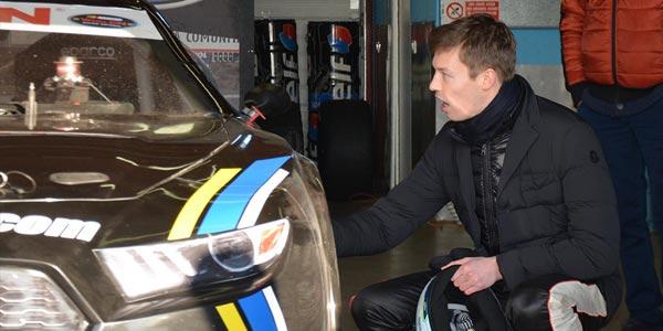 Daniil Kvyat tests Euro NASCAR