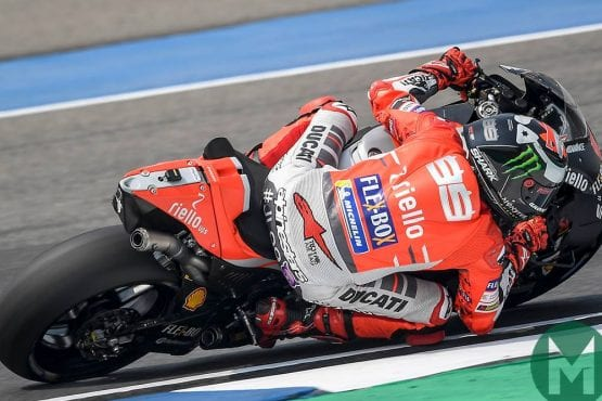 Ducati's cornering tool: press to turn