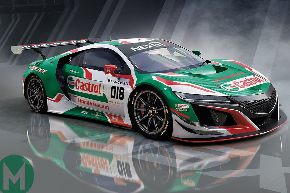 NSX GT3 to compete at Spa