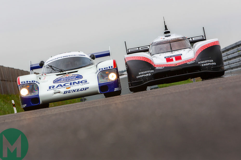 Porsche 919 and 956 to lap Nürburgring