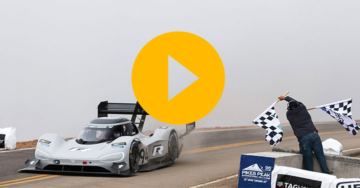 Watch: Volkswagen sets new Pikes Peak record…