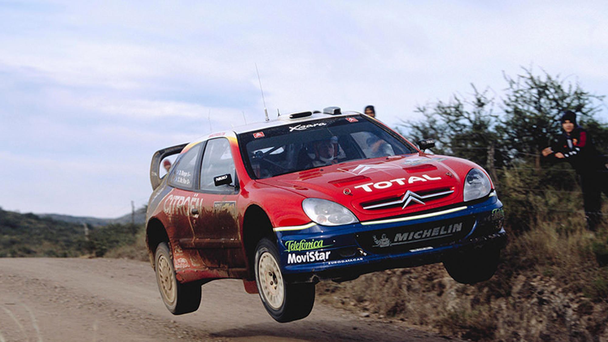 Citroen Xsara WRC jumping