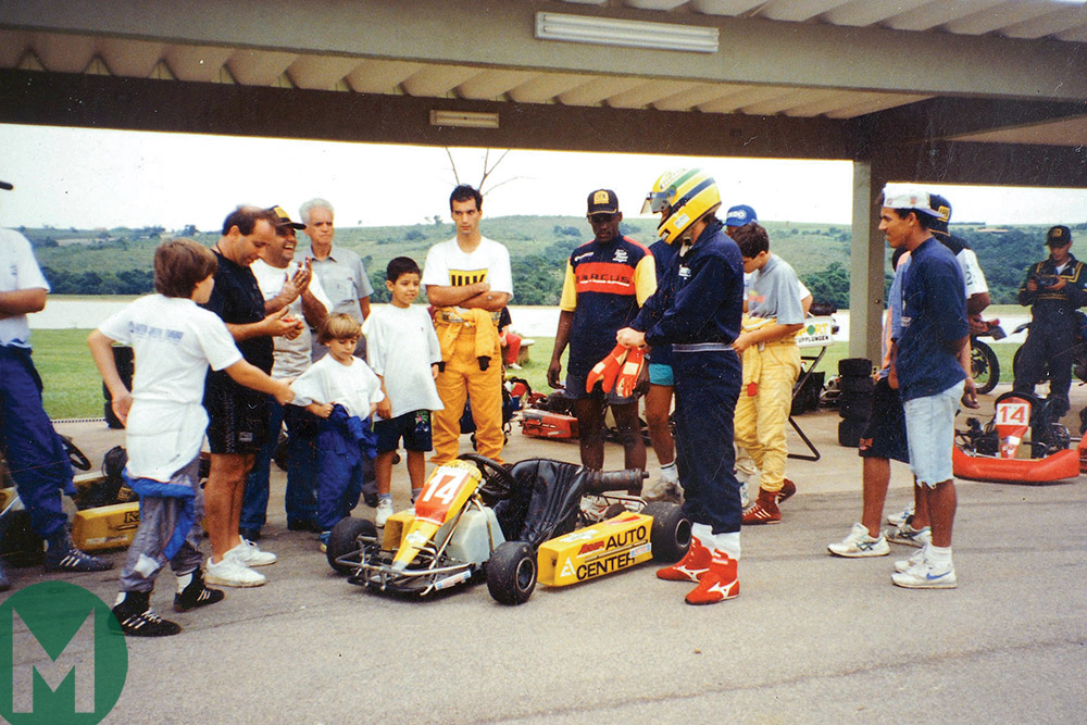 Ayrton Senna's kart at auction