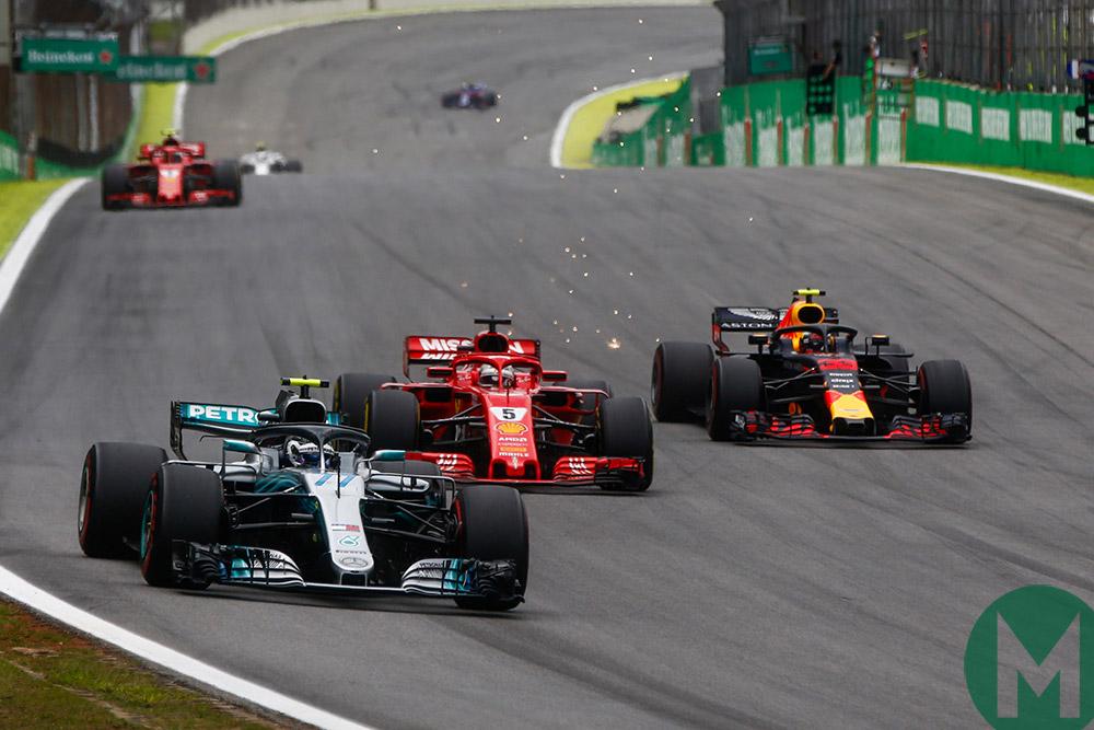 Brazilian Grand Prix 2018 Mercedes Red Bull and Ferrari