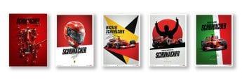 These prints mark Schumacher's first Ferrari title