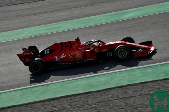 Leclerc fastest for Ferrari on F1 testing day 2