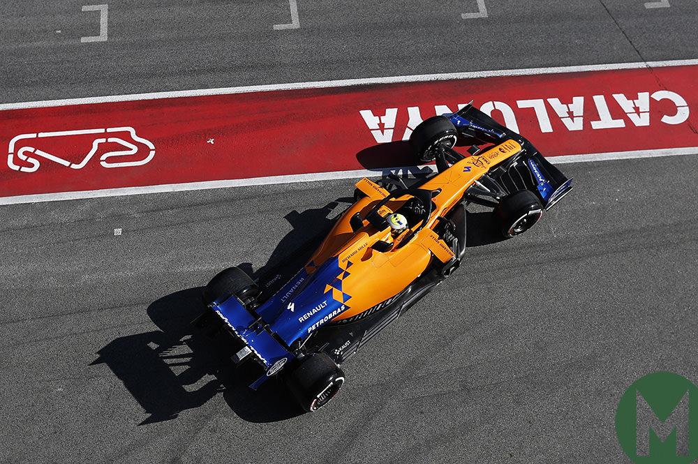 Lando Norris day 1 test 2 F1