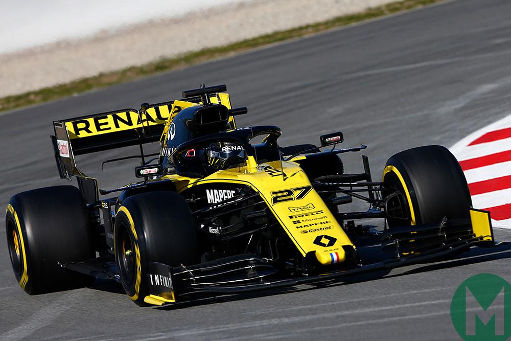 Nico Hulkenberg in the Renault in Barcelona 2019 f1 preseason testing