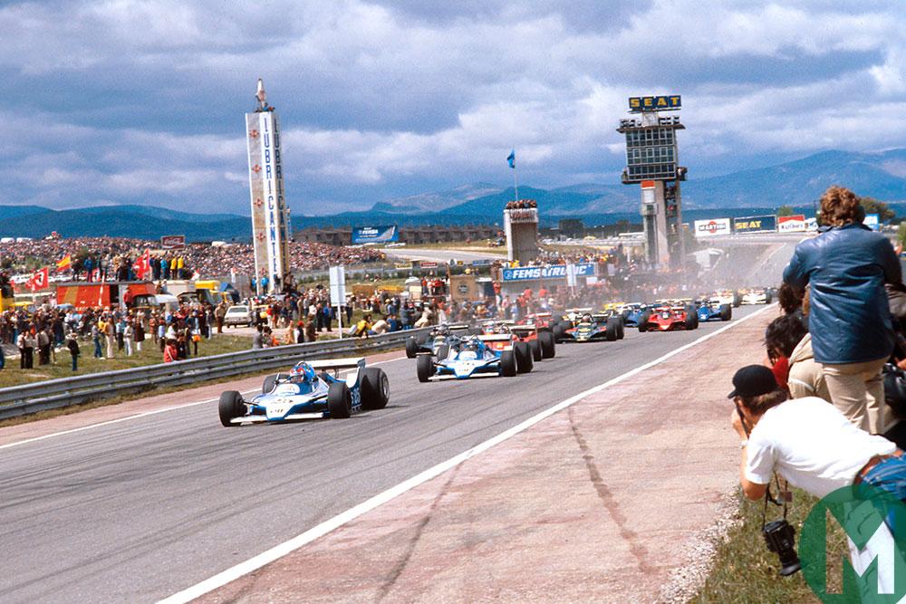 The start of the 1979 Spanish Grand Prix