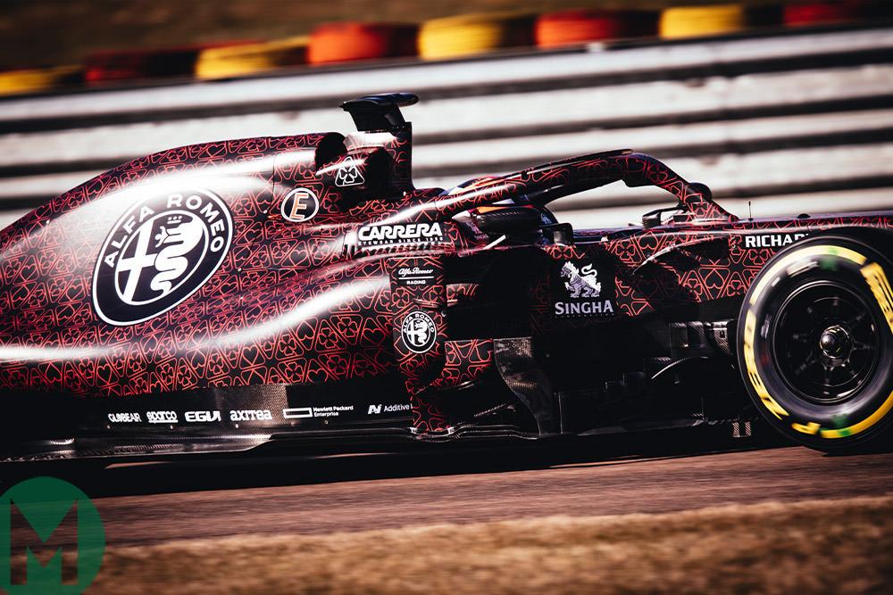 2019 Alfa Romeo F1 car shakedown