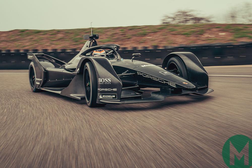 Porsche FE car on track