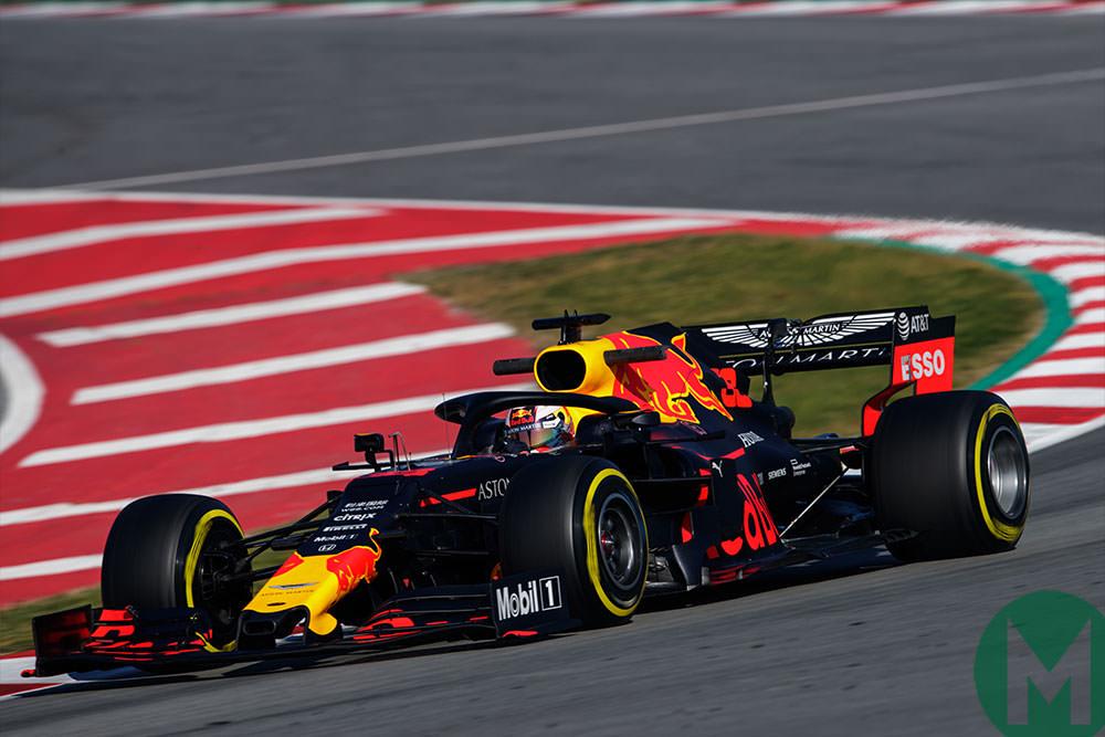 Max Verstappen in the Red Bull in 2019 Barcelona preseason testing