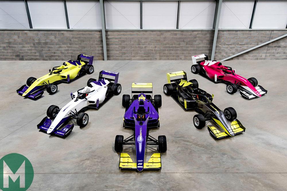 W Series Tatuus F3 cars