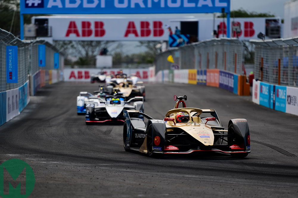 Jean-Éric Vergne leads the Sanya ePrix