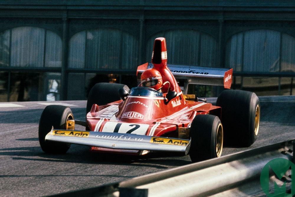 Niki Lauda at the 1974 Monaco Grand Prix