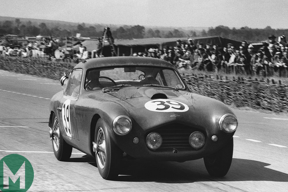 The Frazer Nash Le Mans Coupe from 1953, which that year won its class and finished 13th overall in the Le Mans 24 Hours driven by Ken Wharton and Laurence Mitchell