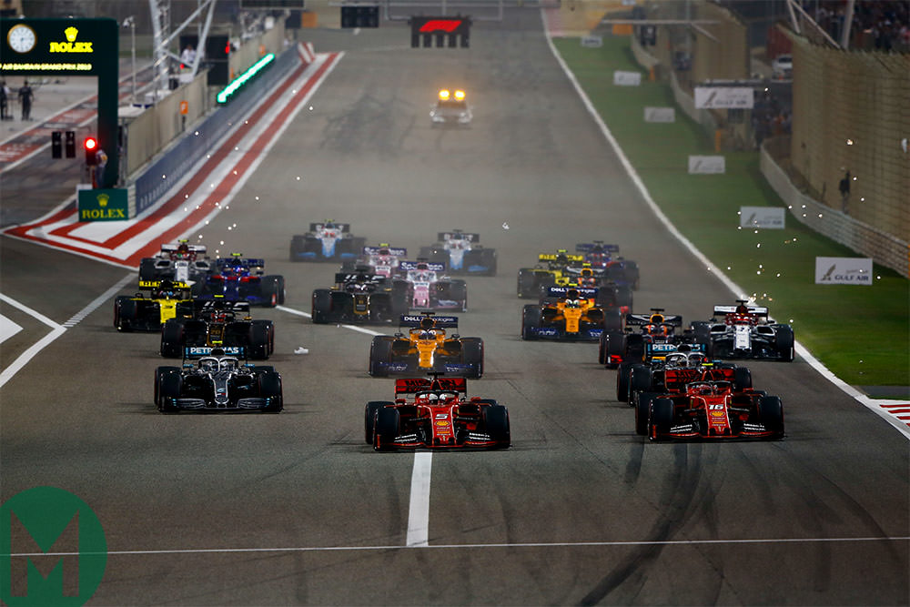 2019 Bahrain Formula 1 Grand Prix start