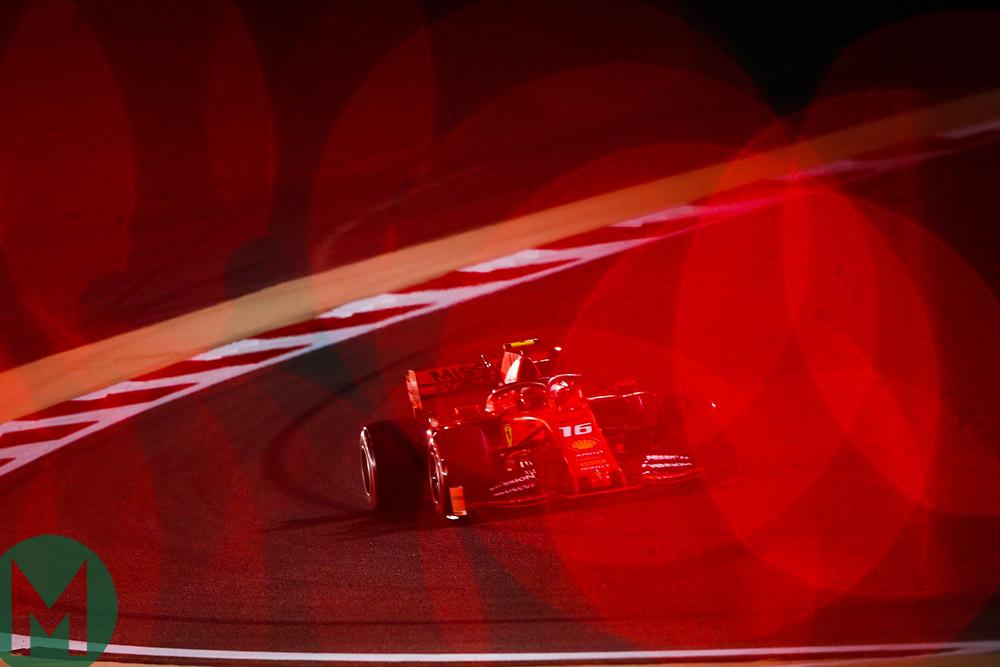 Charles Leclerc and Sebastian Vettel's Ferraris leave Mercedes behind in the 2019 Bahrain GP