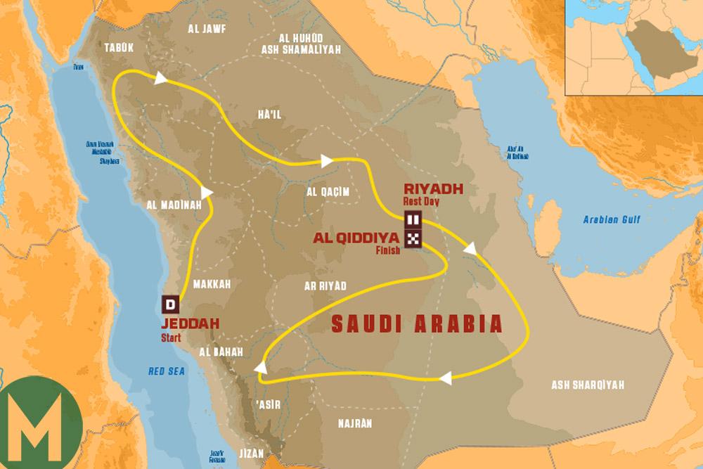 2020 Dakar Rally route