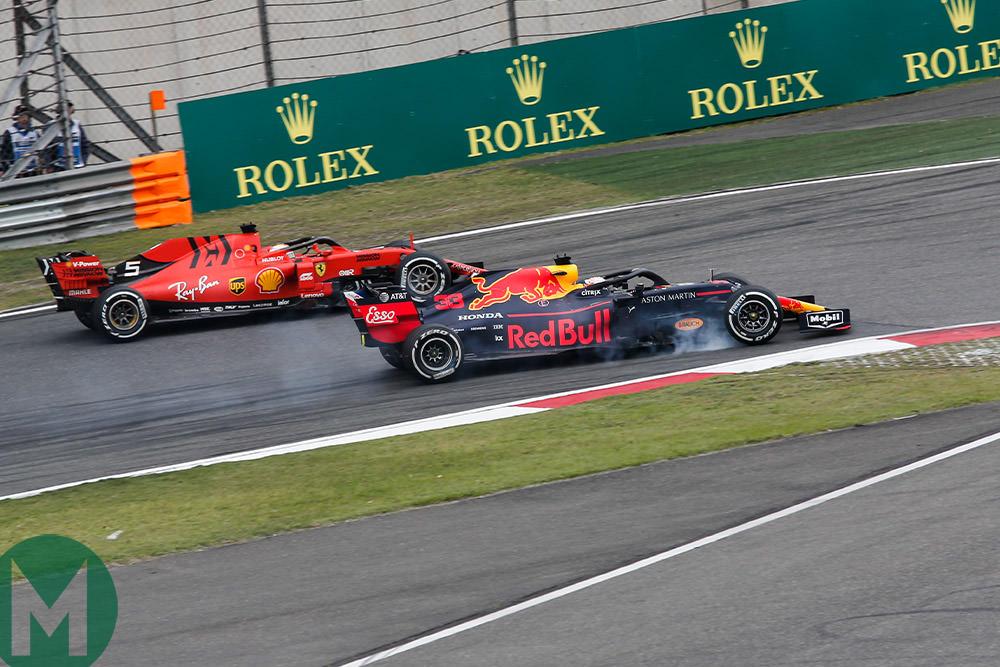 Verstappen Vettel 2019 Chinese GP F1