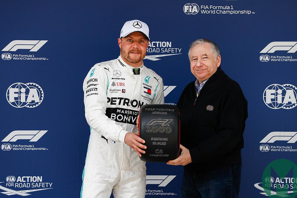 Valtteri Bottas pole 2019 Chinese GP