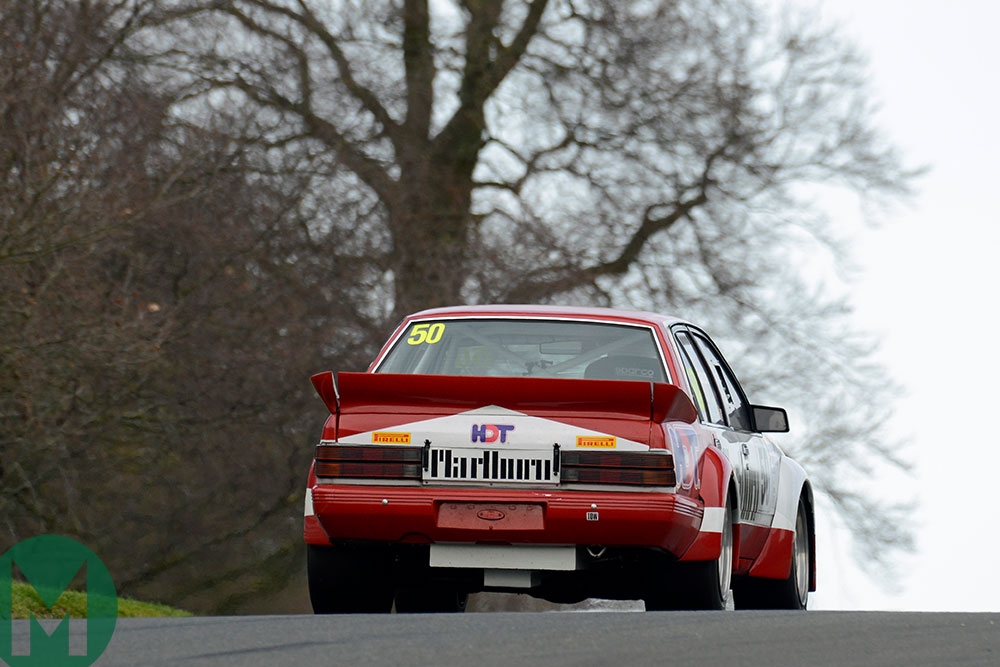 Paul Eaton in a Holden Commodore