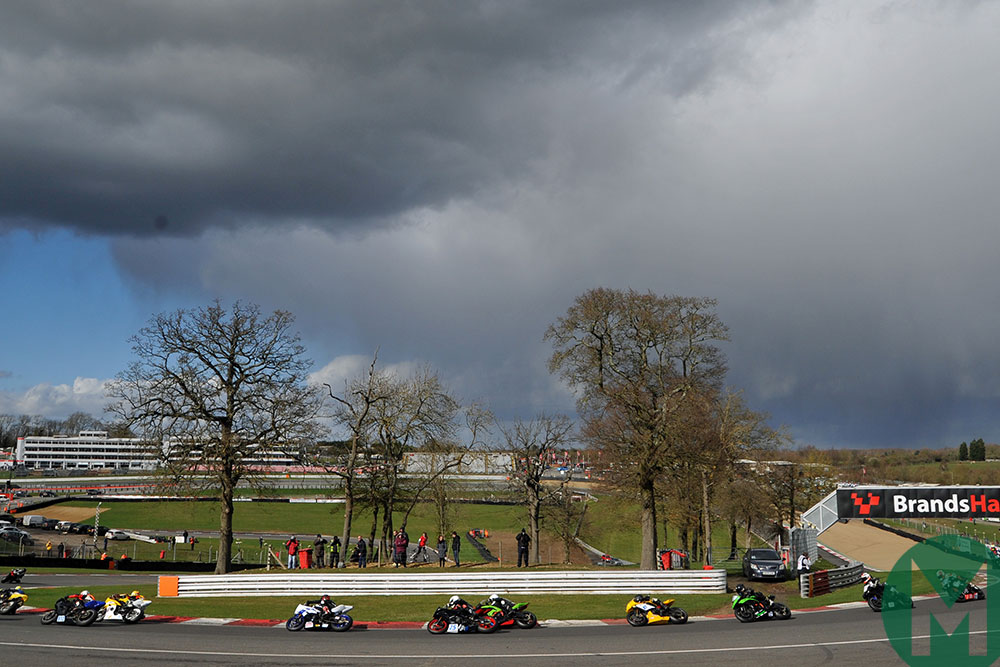 The Brands Hatch season opener took place in tricky conditions