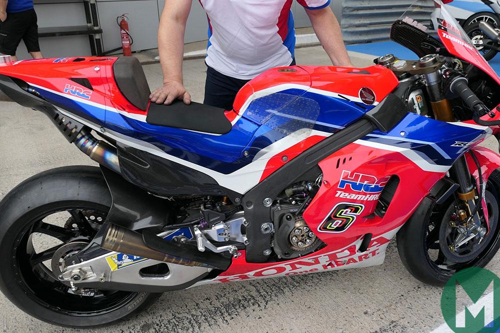 Honda carbon-covered RC213V frame