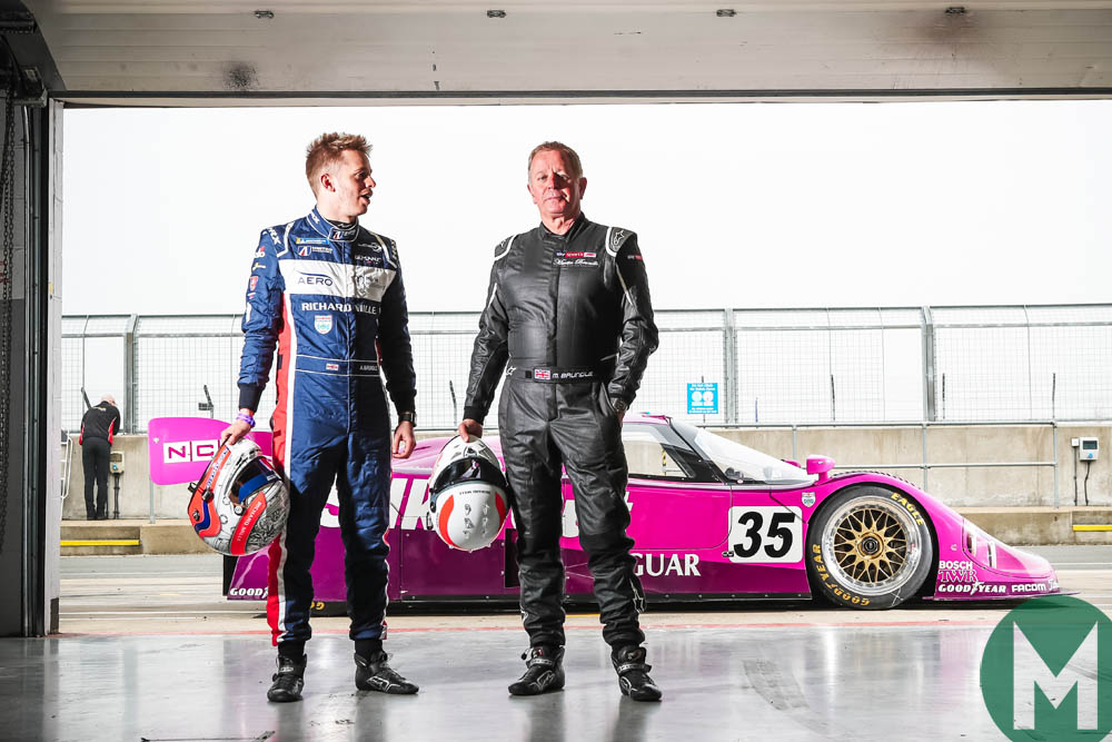 Martin Brundle, Alex Brundle and Jaguar XJR-12