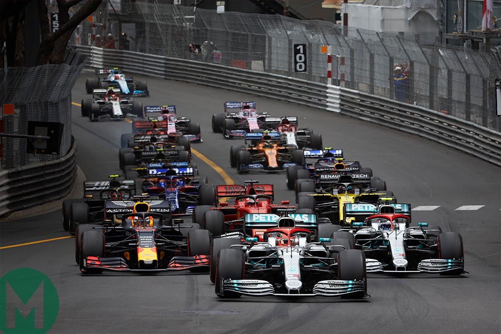 2019 Monaco Grand Prix race start
