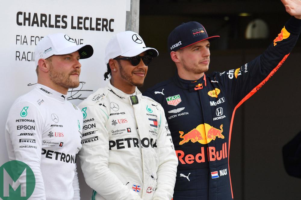 Hamilton, Bottas and Verstappen: the fastest three in qualifying for the 2019 Monaco Grand Prix