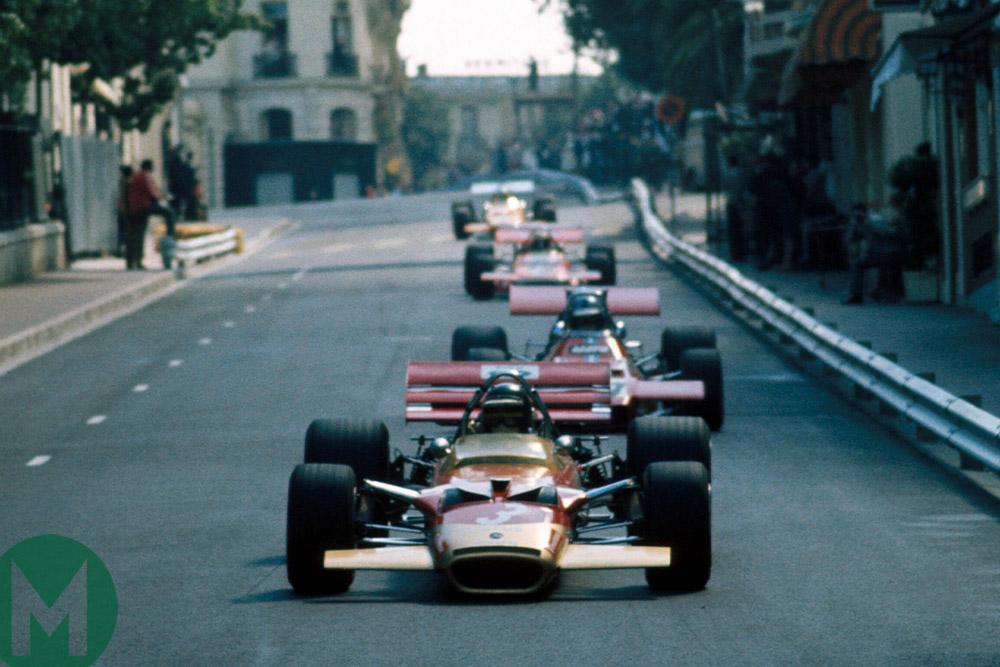 Jochen Rindt leads 1970 Monaco Grand PRix