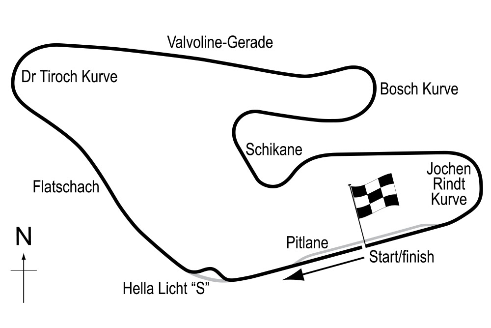 Osterreichring trackmap