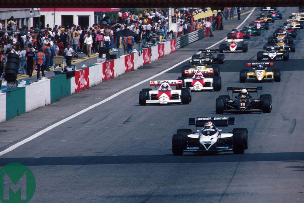 Race start 1984 Austrian Grand Prix