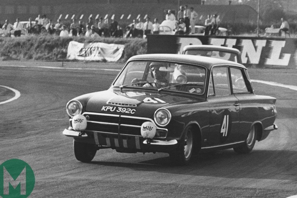 1965 European Touring Car Championship Sir John Whitmore's Ford Lotus Cortina