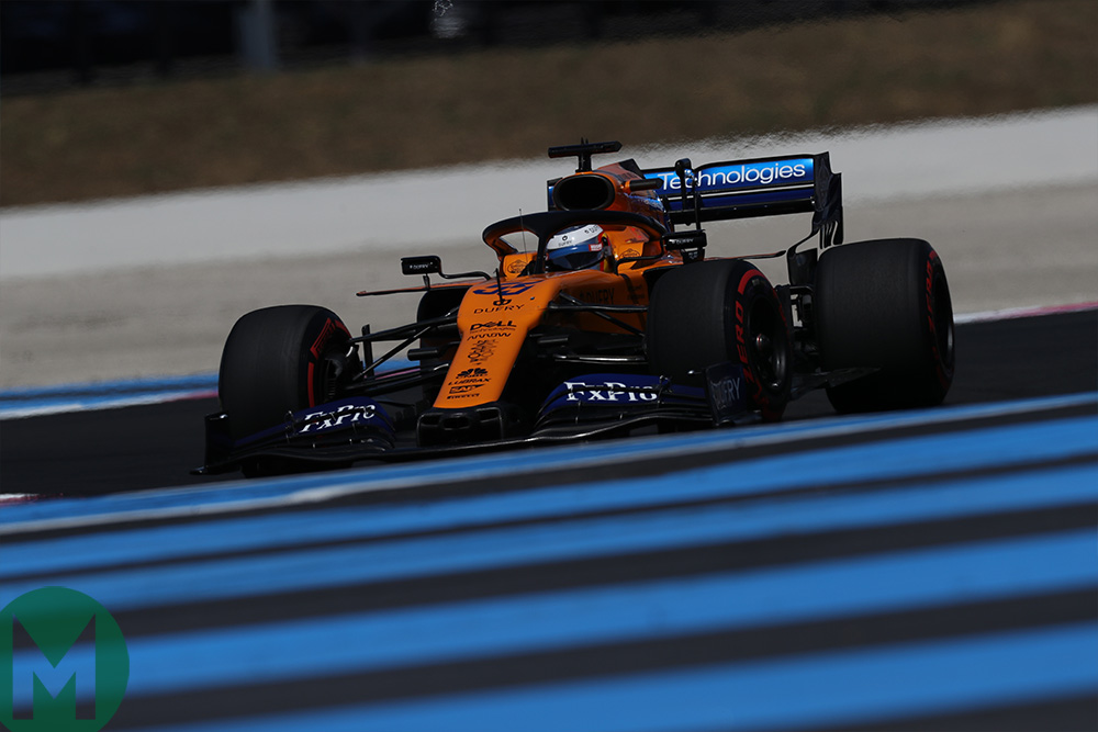 Lando Norris on track in qualifying for the 2019 French Grand Prix