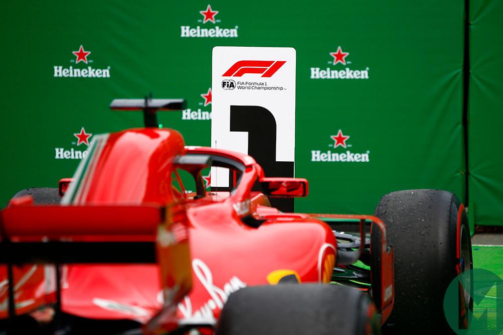 Sebastian Vettel's winning Ferrari at the 2018 Canadian Grand Prix