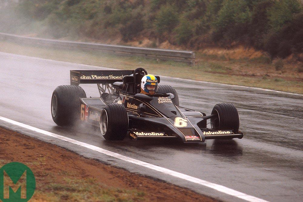 Gunnar Nilsson at the 1977 Belgian Grand Prix