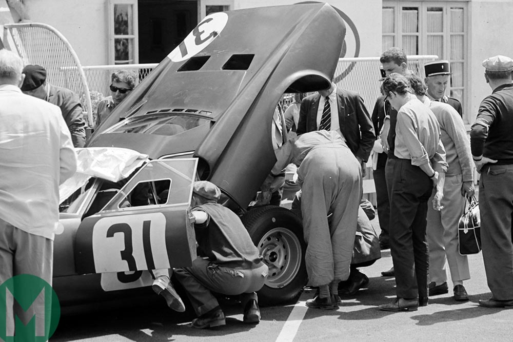 Rover-BRM in the pits at the 1965 Le Mans 24 Hours