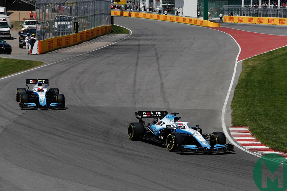 George Russell leads Robert Kubica