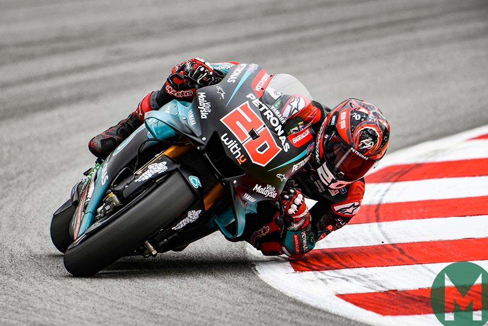 Fabio Quartararo at the 2019 MotoGP Catalan Grand Prix