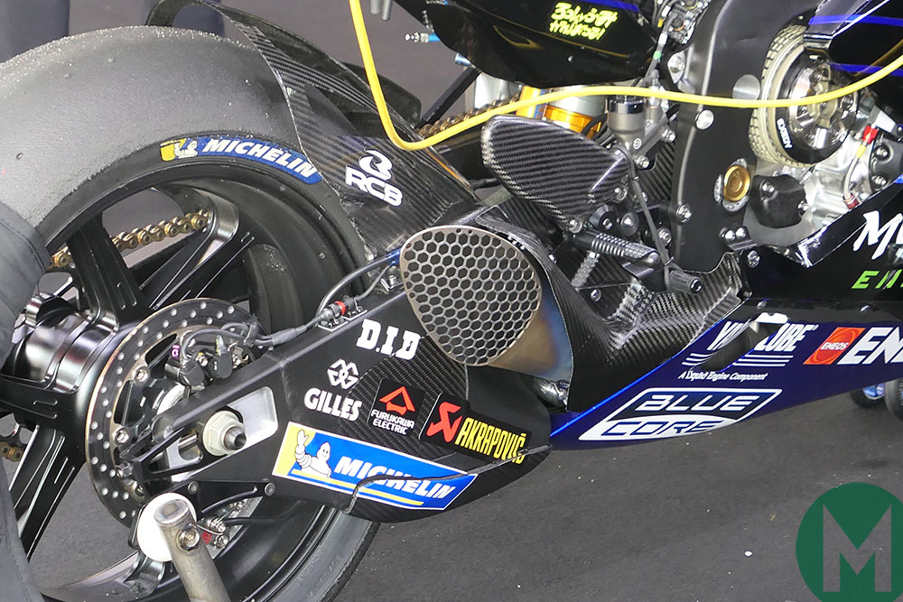 Yamaha new exhaust Akrapovic 2019 MotoGP Catalunya