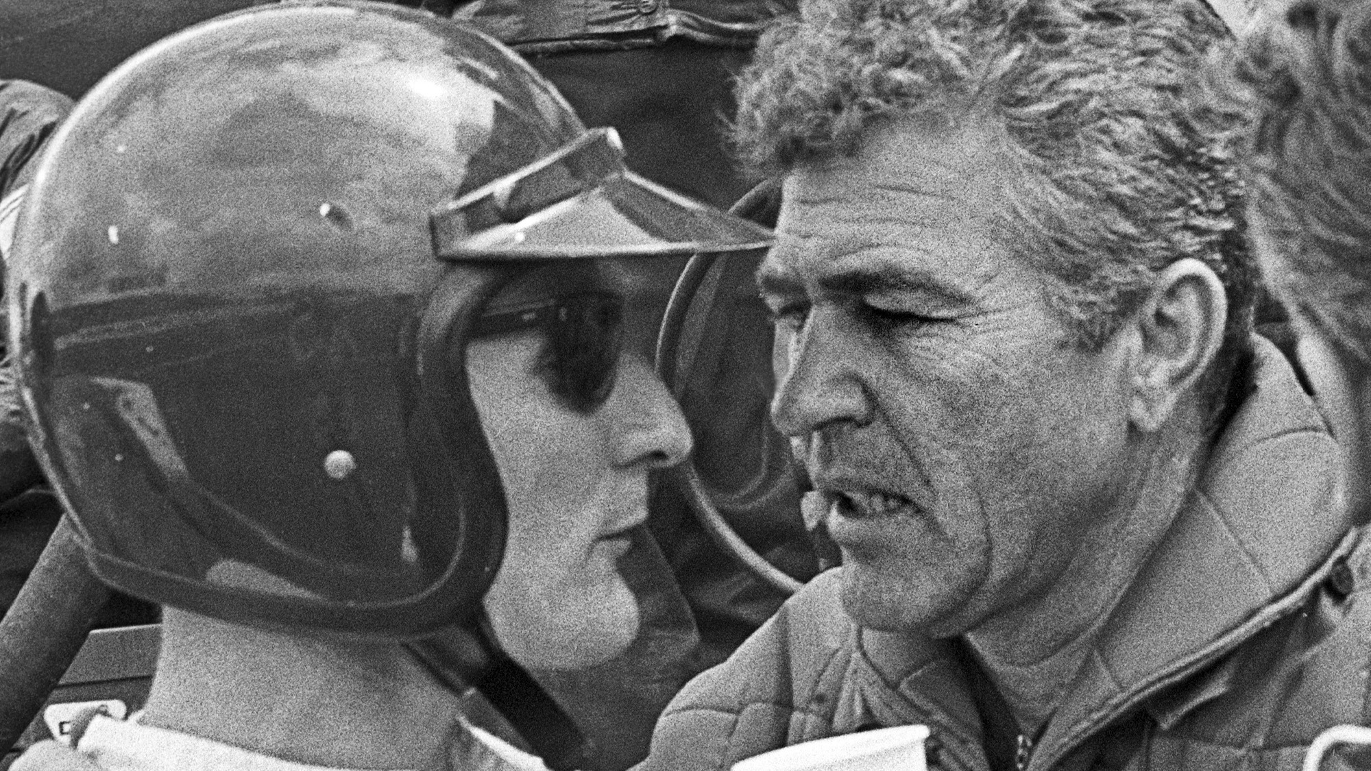 Carroll Shelby with Ken Miles at Le Mans in 1966