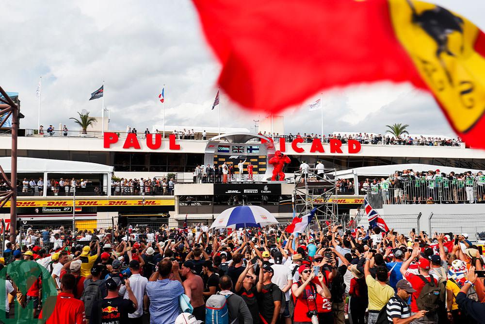 2018 French Grand Prix podium