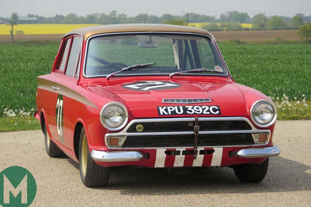 Sir John Whitmore 1965 Ford Lotus Cortina