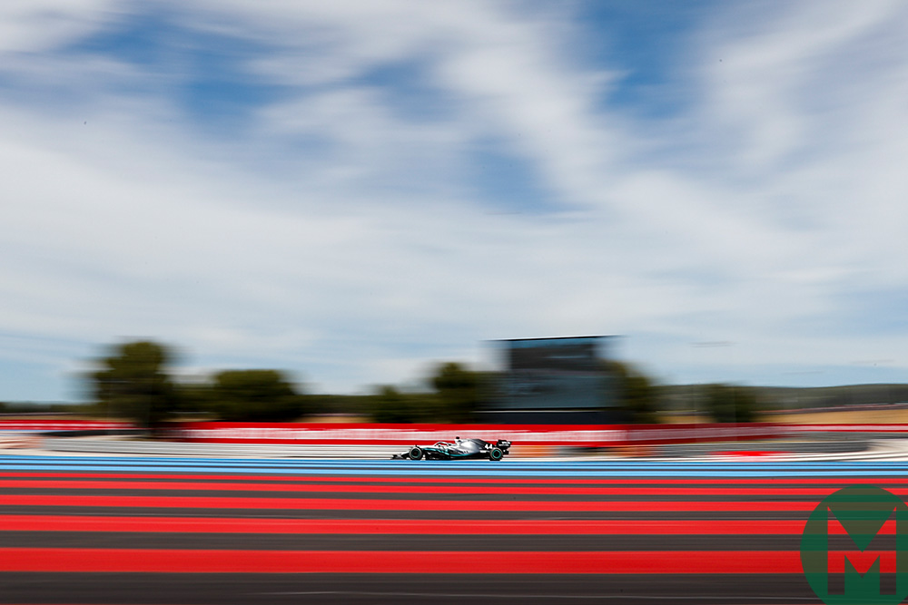 Lewis Hamilton at the Circuit Paul Ricard during the 2019 French Grand Prix