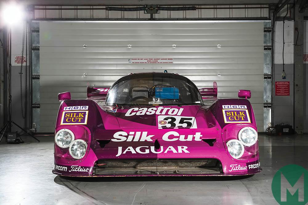Jaguar XJR-12 in pit garage