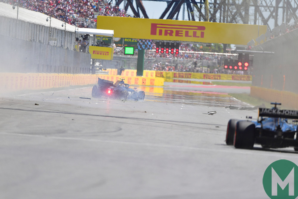 Kevin Magnussen crashes in Q2 ahead of the 2019 Canadian Grand Prix