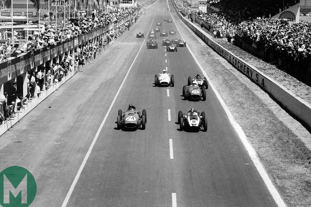 1959 Reims GP start