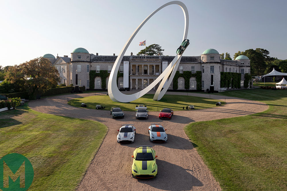 The six new designs are on display at the 2019 Goodwood Festival of Speed, under the Aston Martin-themed central feature